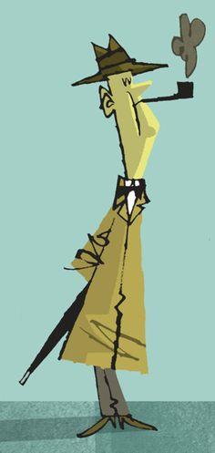 Jonathan Edwards ~ Jacques Tati as Mr. Hulot