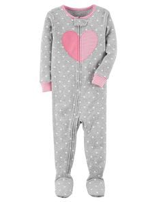 Crafted in soft cotton with no-slip gripper footies, these PJs will be a bedtime hit.
