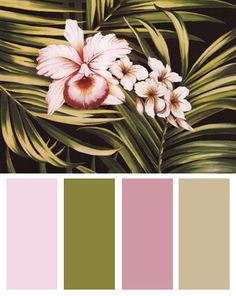 Tropical Color Palette (Tropical Bouquet III art print by Kessler-Romano)