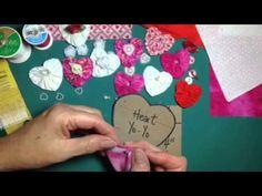 How to sew a heart shaped yo-yo - YouTube