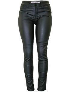 Cielo Opaque Faux Leather Pants Black 1010