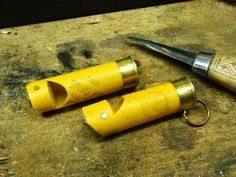 make a whistle from a shot gun casing
