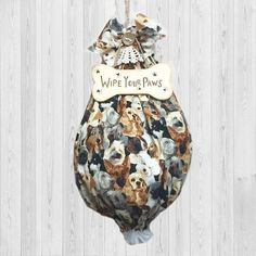 Wipe Your Paws  Grocery Bag Holder Dog Lovers Gift Plastic