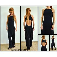 Black jumpsuit Jumpsuits for women Open back jumpsuit Harem jumpsuit... (150 BGN) via Polyvore featuring jumpsuits, harem jumpsuits, summer jumpsuits, jump suit, sleeveless jumpsuits and maxi jumpsuit