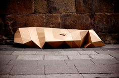 the 'homeless shelter 20/20' designed by fernando resendiz is a cardboard blanket that can be used by people in need of temporary or emergency shelter.