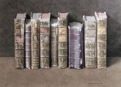 """Jonathan Wolstenholme """"A Fine Library"""" 2004. Watercolor on paper 