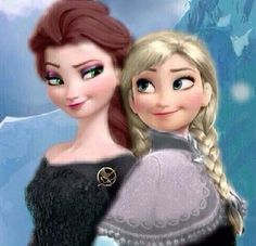 Anna/Elsa / Prim/Katniss For the Hunger Games Fans (Audrey this is for you)