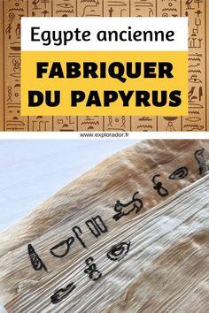 Fabriquer du papyrus avec Explorador. Une activité manuelle originale sur l'Egypte ancienne pour expliquer aux enfants la fabrication du papier égyptien. #egypte #activitéenfant #activitésenfants British History, Art History, Egypt Decorations, Egypt Makeup, Egypt Wallpaper, Le Scribe, Hurghada Egypt, Papyrus, Egypt Tattoo