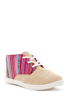 Geo Textile Burlap Paseo-Mid Shoe (Little Kid & Big Kid) by TOMS on @nordstrom_rack