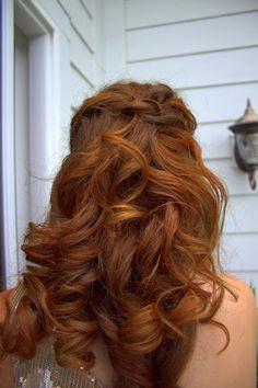 Abby's hair...Prom 2012