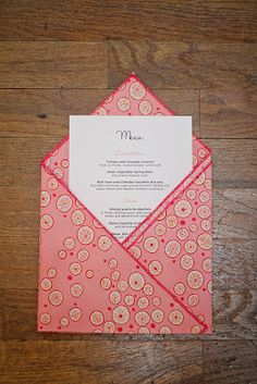 BonnieProjects: Wedding Wednesday: Cloth Napkin Wedding Favors