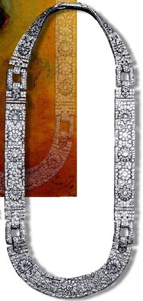 Mountbatten Art-Deco Diamond Platinum Chain