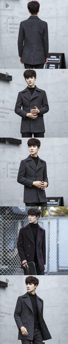 ZEESHANT Men Jacket And Coat Men Casual Windbreaker Fashion Solid Single-breasted Black Coats M-XXXL Casaco Masculino Homme
