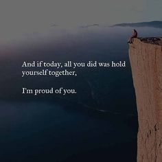 Positive Quotes : QUOTATION – Image : Quotes Of the day – Description and if today all you did was hold yourself together. Sharing is Power – Don't forget to share this quote !