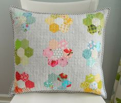 s.o.t.a.k handmade: a new hexie pillow
