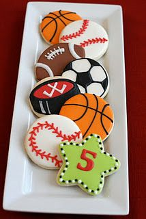 Nice sports cookies for Father's Day.