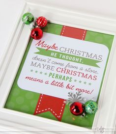 Free Grinch printable quote and lots of party and food ideas.
