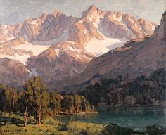 Edgar Payne (1882-1947). High Sierras. Oil on canvas. 28x34 in (71.1 x 86.4 cm)