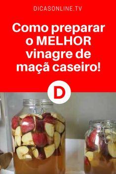 Receita de vinagre de maçã caseiro | Receita superfácil. Além de preparar o seu próprio vinagre de maçã em casa, você vai economizar. Aprenda ↓ ↓ ↓ Bebidas Detox, Low Carb Recipes, Healthy Recipes, Good Food, Yummy Food, Bento, Kitchen Recipes, Food Truck, Cooking Time