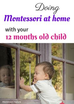 Montessori At Home with a 12 Months Old Child Montessori 12 Months, Montessori Playroom, Montessori Homeschool, Montessori Toddler, Montessori Activities, Infant Activities, Educational Activities, Learning Activities, Homeschooling