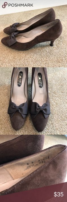 Brown Suede Pumps Great condition, never worn! Genuine leather Shoes Heels