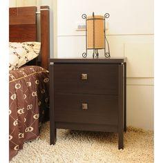 Have to have it. Furniture of America Vittena 2 Drawer Nightstand - Walnut - $159.99 @hayneedle.com