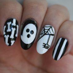 Instagram media tachmedeiros - Halloween  #nail #nails #nailart