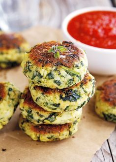 Garlicky Potato and Spinach Patties