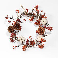 Dried Flower Wreaths, Fall Wreaths, Dried Flowers, Christmas Wreaths, Ikebana Flower Arrangement, Flower Arrangements, Door Crafts, Diy And Crafts, Xmas Decorations