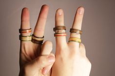 Recycled Skateboard Jewelry - Richmond Ring