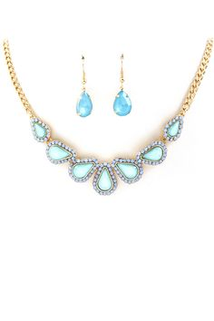 Prussian Blue Maggie Necklace