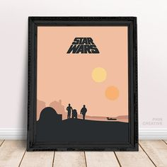 Star Wars Trilogy Minimalist Movie Posters Set of by PhinCreative Vibrant Colors, Colours, A New Hope, Beautiful Textures, Star Wars Art, Stars, Frame, Creative, Illustration