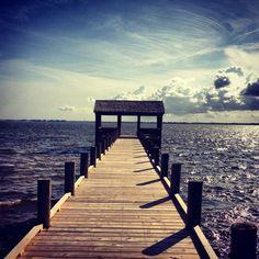 dock. Love the walkway