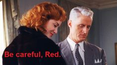 Roger Sterling and Joan Harris Holloway.