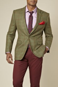 We're loving this Blazer Tailored Fit Country Check Jacket Green by @MossBrosTweet