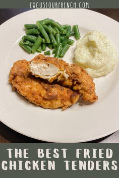 on my list of comfort food fried chicken! Shout out to my sister Sam for teaching me this recipe for The Best Fried Chicken Tenders! Easy Family Meals, Easy Meals, Family Recipes, Real Food Recipes, Chicken Recipes, Whole Turkey Recipes, Fried Chicken Tenders, Comfortfood, Have Time