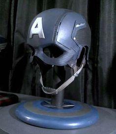 CAPTAIN AMERICA Prop Stealth HELMET Mask Cosplay Display or Wear Avengers Winter Soldier Costume
