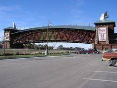 Great Platte River Road Archway - a museum of and monument to Nebraska's and the Platte River valley's role in westward expansion. The Archway Monument is directly over Interstate 80 three miles east of Kearney, Nebraska. The lobby escalator is the longest in the state of Nebraska. 360 ft of fiber optics is utilized in the entry movie. An authentic 1914 Ford Model T is featured in the Lincoln Highway scene. An authentic 1961 Cadillac convertible is showcased in the drive-in theater scene.