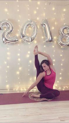 Happy new year yoga compasspose