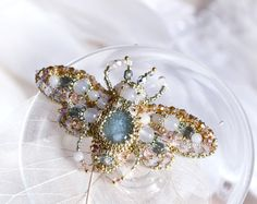 Flying Beetle brooch Spring wedding by PurePearlBoutique on Etsy