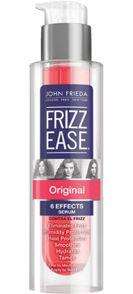 John Frieda Frizz Ease Original Serum: This game changer made (impervious to frizz) waves when it launched in 1988, and it's still adored as a smooth operator. See the 29 other powerhouse products that have been on ELLE's pages for years.