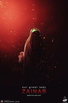 ها يزينب وحدچ والدنيا ليل ؟  #ويبقى_الحسين Islamic Images, Islamic Pictures, Islamic Art, Islam Beliefs, Islam Quran, Muharram Wallpaper, Karbala Photography, Imam Hussain Karbala, Imam Hassan