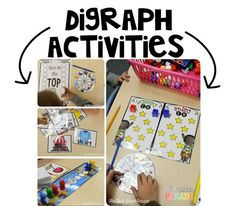 These hands-on digraph activities are engaging and fun!  Perfect for independent or partner play or even small group guided reading warm-ups!