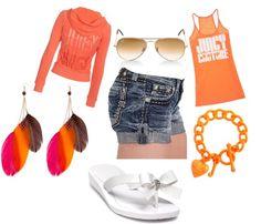 orangeee ., created by abbeymartin2016 on Polyvore