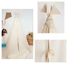 """Tipi """" a la carta"""" combinando puertas banderines y pañuelo en lunares"""