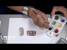 (413) Cool Tools: Painting with Ferro® Sunshine Enamels by Jan Harrell - YouTube