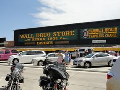 Wall Drug, SD  Got its start during the Depression years by offering FREE ice water to thirsty travlers.  Opened in 1931!