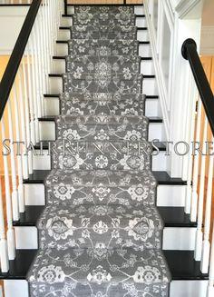 Stairways With Carpet Runners Stair Runner Carpet, Staircase Decor, Floor Runners, Stair Decor, Red Carpet Runner, Stair Remodel, Stairways, Layered Rugs
