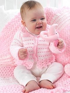 Craft Passions: Baby's Lacy Jacket..# free #crochet pattern link here