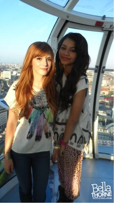 """""""Me and Z are on the top of the world!"""" #bella thorne #zendaya"""